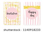 bridal shower set with dots and ... | Shutterstock .eps vector #1140918233