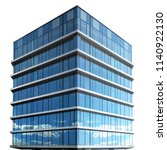 single business skyscraper... | Shutterstock . vector #1140922130