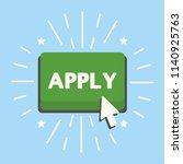 apply green button with cursor... | Shutterstock . vector #1140925763