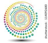 stylish swirl shape  logo... | Shutterstock .eps vector #114092680
