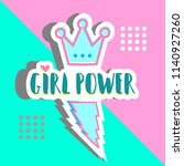 girl power banner design... | Shutterstock .eps vector #1140927260