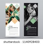 template of vector vertical... | Shutterstock .eps vector #1140928403