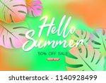 summer sale background layout...   Shutterstock .eps vector #1140928499
