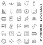 thin line vector icon set  ... | Shutterstock .eps vector #1140932336