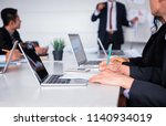 businesspeople meeting and... | Shutterstock . vector #1140934019