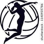 volleyball sports game logo | Shutterstock .eps vector #1140935786