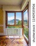 bedroom with window and... | Shutterstock . vector #1140935906