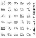thin line vector icon set  ... | Shutterstock .eps vector #1140939929