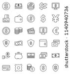 thin line vector icon set  ...   Shutterstock .eps vector #1140940736