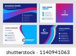 set of business card templates. ... | Shutterstock .eps vector #1140941063