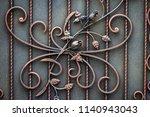 beautiful decorative metal... | Shutterstock . vector #1140943043