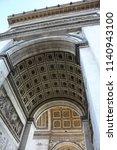 triumphal arch paris | Shutterstock . vector #1140943100