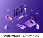 isometric illustration of... | Shutterstock .eps vector #1140944249