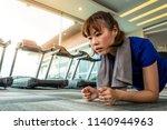 asian fitness   sports woman... | Shutterstock . vector #1140944963