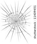 vector illustration of cracks... | Shutterstock .eps vector #11409451