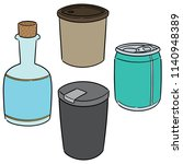 vector set of beverage | Shutterstock .eps vector #1140948389