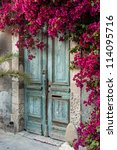 Old Wooden Door With...