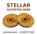 stellar. accepted sign emblem.... | Shutterstock .eps vector #1140957440