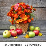 Bouquet Of Autumn Flowers Is...