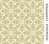 classic seamless vector golden...   Shutterstock .eps vector #1140959426
