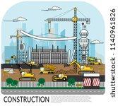 vector of busy construction... | Shutterstock .eps vector #1140961826