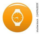wristwatch round icon. simple...   Shutterstock . vector #1140963059