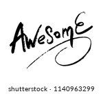 handmade word   awesome   hand... | Shutterstock .eps vector #1140963299