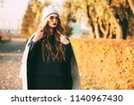 seasonal autumn fashion. modern ... | Shutterstock . vector #1140967430