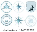 traditional nautical maritime... | Shutterstock .eps vector #1140972770