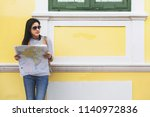 travel guide  tourism in asia ...   Shutterstock . vector #1140972836