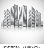building cityscape background | Shutterstock .eps vector #1140973913