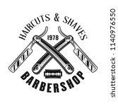 barbershop emblem  label  badge ... | Shutterstock .eps vector #1140976550