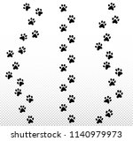 paw dog  puppy  cat vector... | Shutterstock .eps vector #1140979973