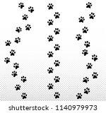 paw dog  puppy  cat vector... | Shutterstock .eps vector #1140979973