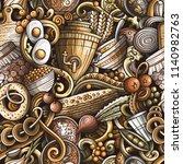 cartoon cute doodles hand drawn ... | Shutterstock .eps vector #1140982763