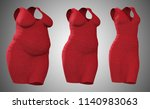 conceptual fat overweight obese ... | Shutterstock . vector #1140983063
