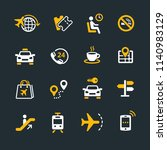 set of travel icons | Shutterstock .eps vector #1140983129