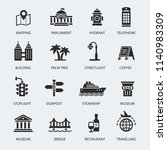 set of travel icons | Shutterstock .eps vector #1140983309