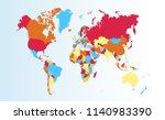 color world map vector | Shutterstock .eps vector #1140983390