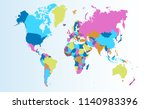 color world map vector | Shutterstock .eps vector #1140983396