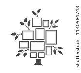 tree with frames art foto.... | Shutterstock .eps vector #1140984743