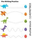 writing practice for preschool... | Shutterstock .eps vector #1140987803