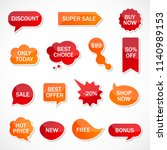 vector stickers  price tag ... | Shutterstock .eps vector #1140989153