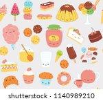 hand drawn seamless vector... | Shutterstock .eps vector #1140989210