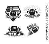 vector set of american football ... | Shutterstock .eps vector #1140996740