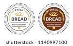 fresh bread boutique bakery.... | Shutterstock .eps vector #1140997100