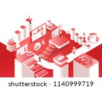 isometric view of crypto... | Shutterstock .eps vector #1140999719