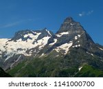mountain landscapes in the... | Shutterstock . vector #1141000700