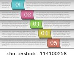 paper templates numbered from 1 ... | Shutterstock .eps vector #114100258