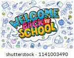 concept of education. school... | Shutterstock .eps vector #1141003490